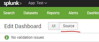 Edit dashboard source