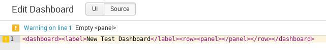 Splunk Dashboard created via API XML Content