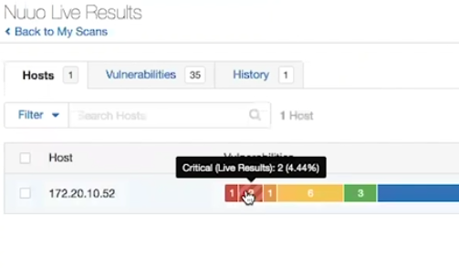 Nessus 8 live results in Scan Results