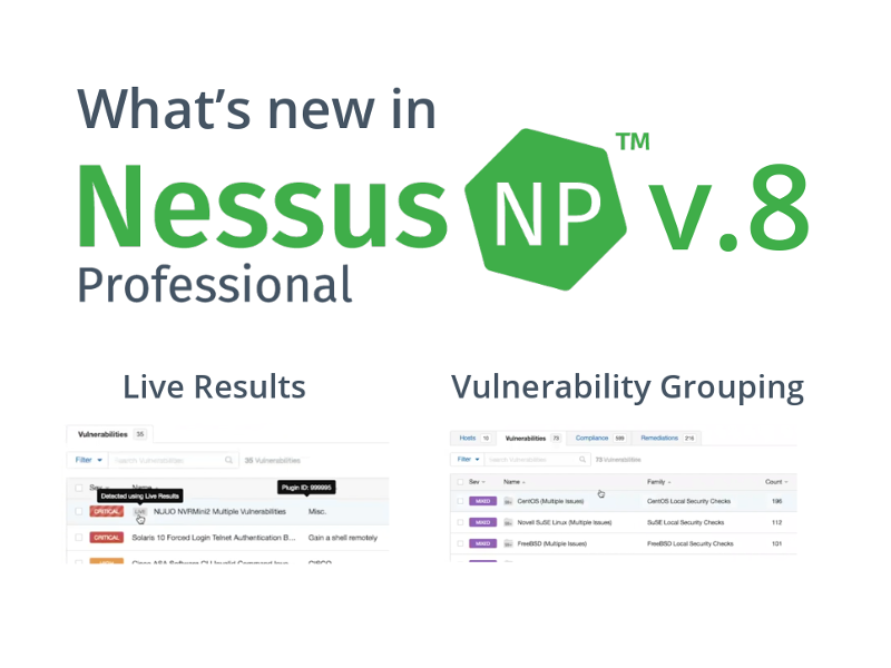What's new in Tenable Nessus 8