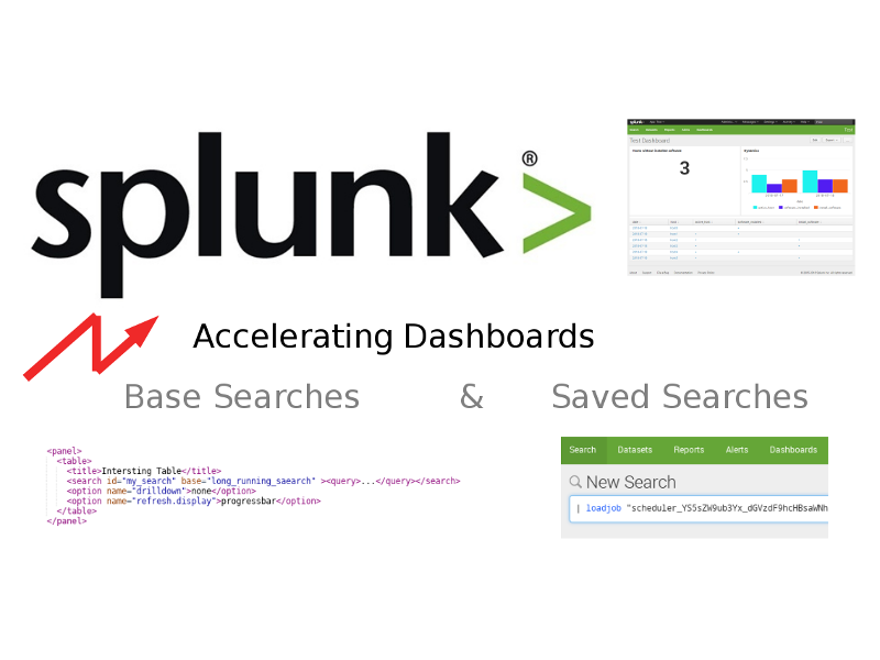 Accelerating Splunk Dashboards with Base Searches and Saved Searches