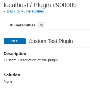 Custom NASL plugin in Nessus scan results