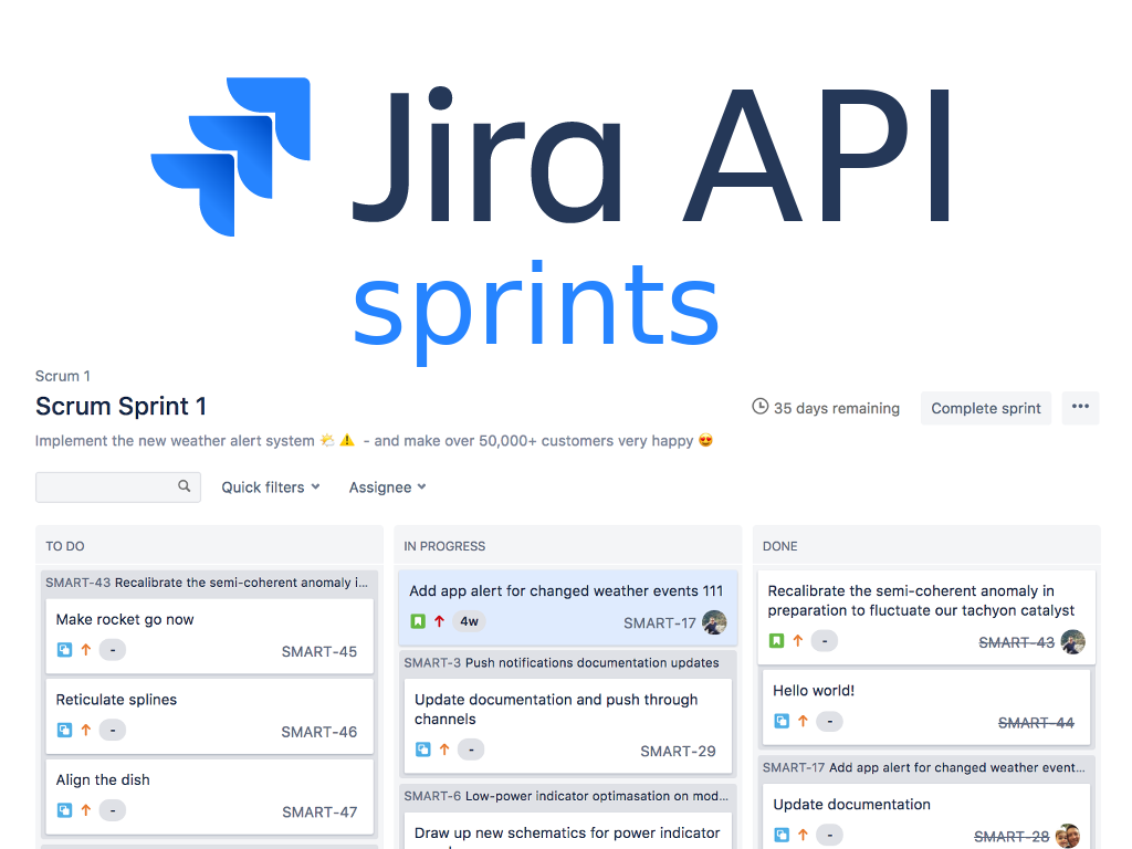 Managing JIRA Agile Sprints using API