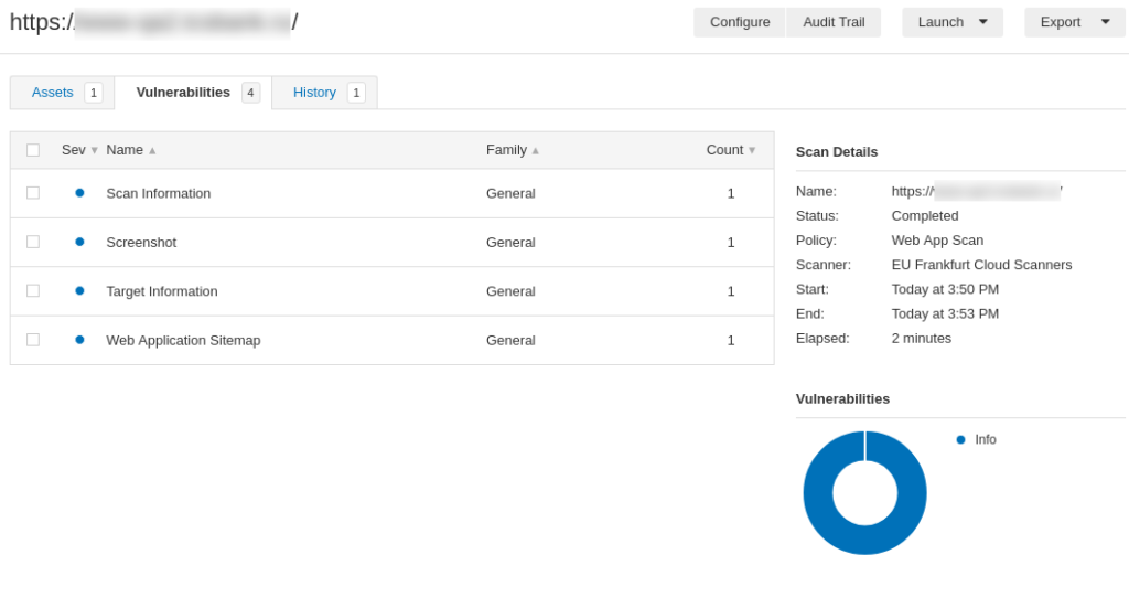 First look at Tenable io Web Application Scanner (WAS