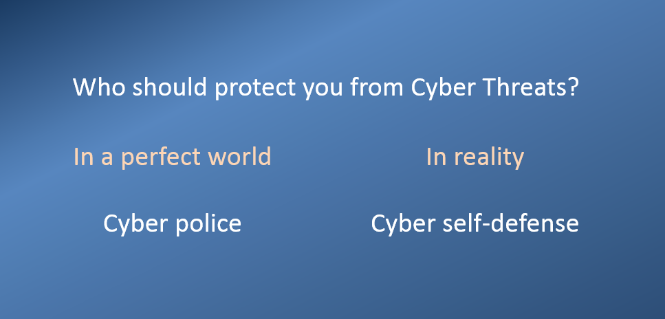 Who should protect you from Cyber Threats?