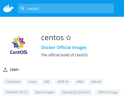 CentOS Official Docker image