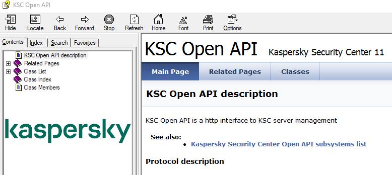 Kaspersky SC 11 openAPI