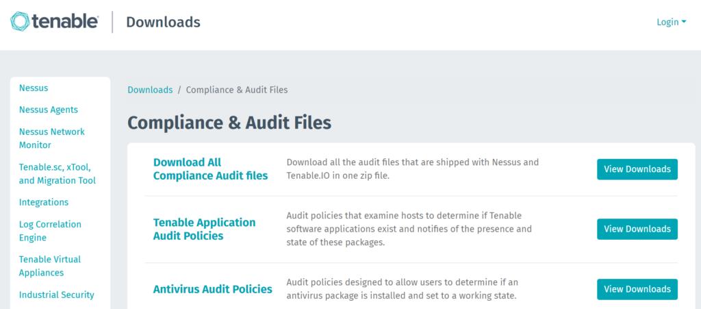 Tenable .audit script