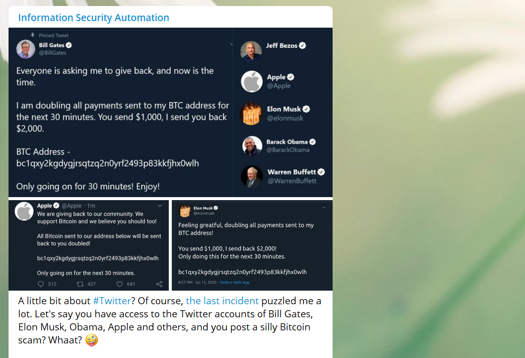 Weird attack on Twitter