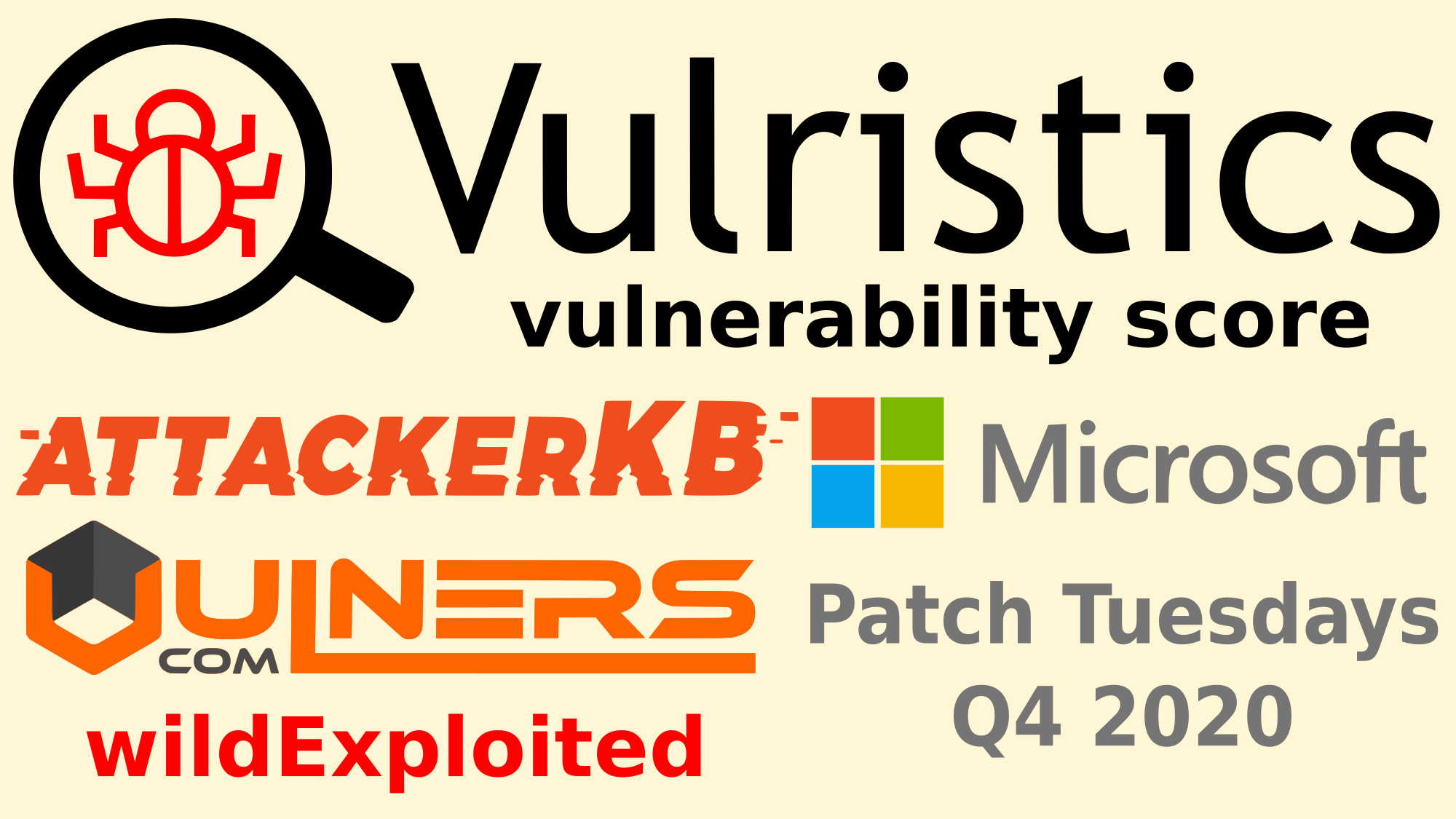 Vulristics Vulnerability Scores, automated data collection and Microsoft Patch Tuesday Q4 2020