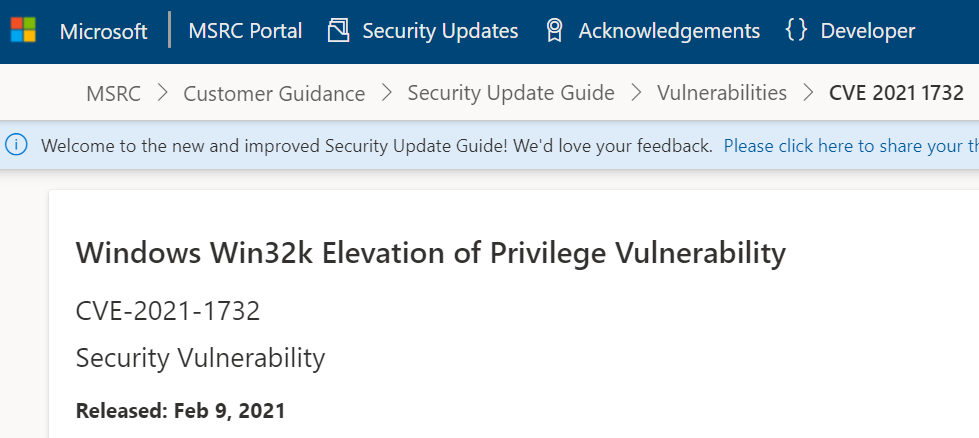Elevation of Privilege - Windows Win32k MS site